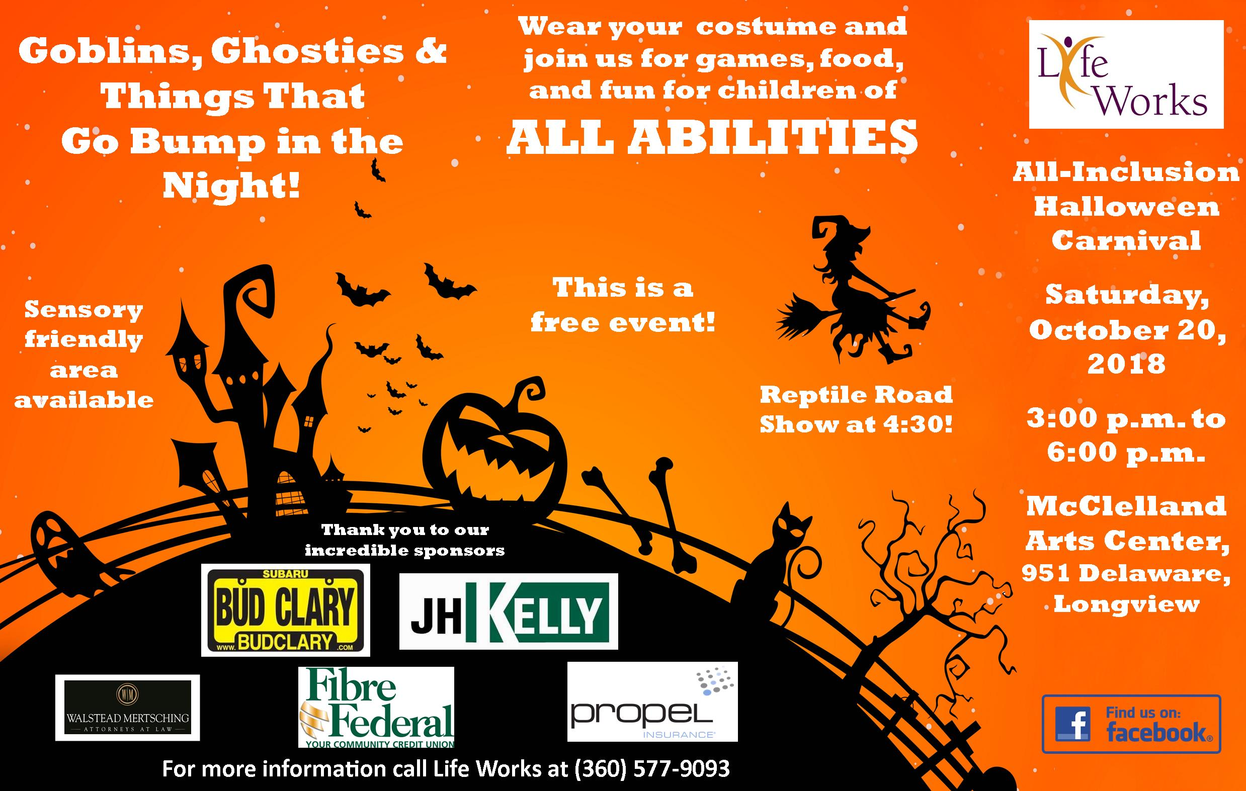life works all inclusion halloween carnival | kelso longview chamber