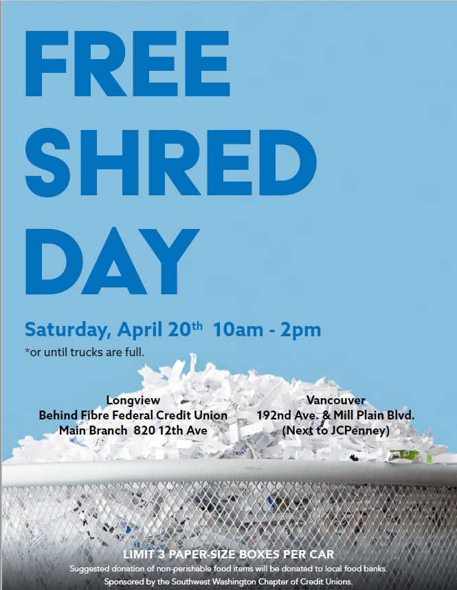 Free Shred Day   Kelso Longview Chamber of Commerce