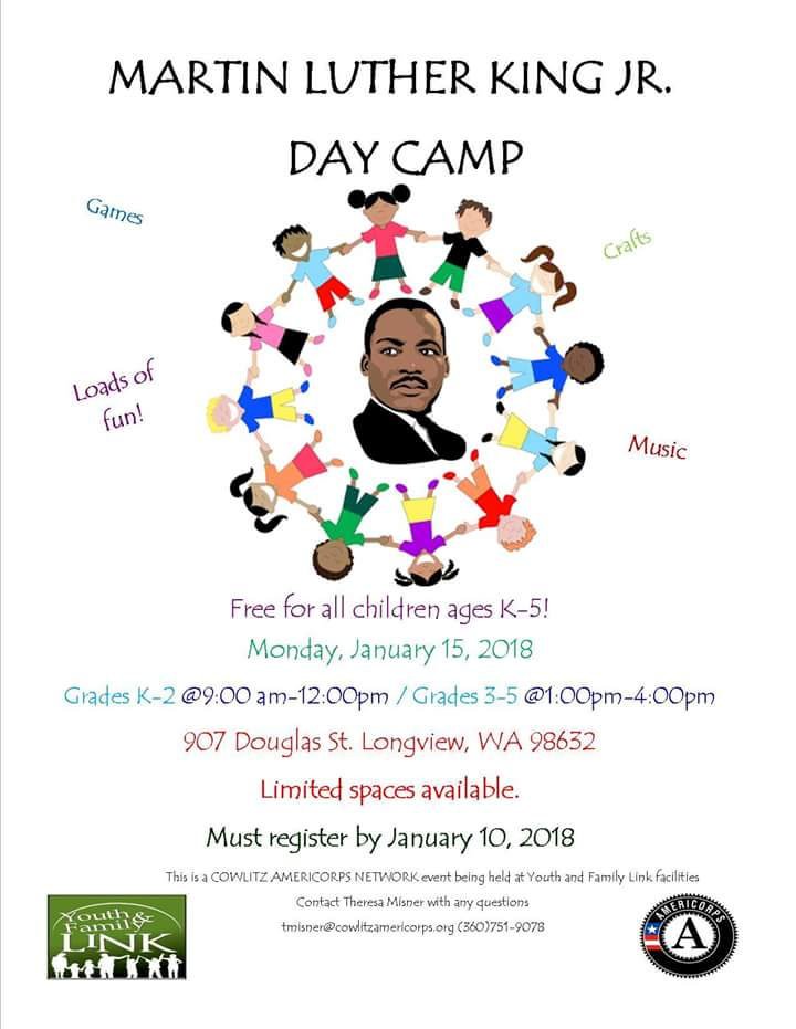 Martin Luther King Jr Day Camp Kelso Longview Chamber Of Commerce