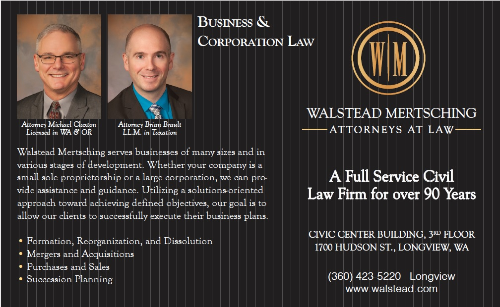 Walstead Mertsching  Business Corporate Law Claxton Brault